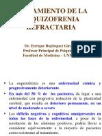 tratamiento de la esquizofrenia refractaria