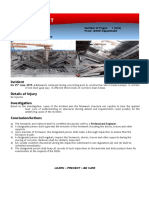 Safety Alert - Collapse of Falsework