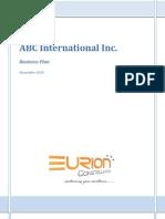 EURION - Sample Business Plan