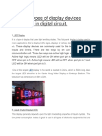 Types of Display Devices Used in Digital Circuit