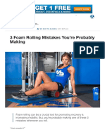 3 Foam Rolling Mistakes You'Re Probably Making