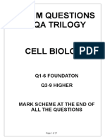cell biology exam q
