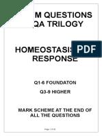homeostasis and response