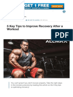 5 Key Tips to Improve Recovery After a Workout
