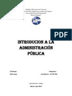 Introducion a La Administracion Publica