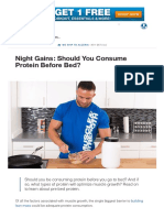 Night Gains_ Should You Consume Protein Before Bed