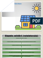 Etapele Validare Program Sisteme Fotovoltaice