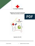 Reglamento Nacional de  Voluntariado de la Cruz Roja Colombiana  2011