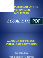 Handout on Avoiding the Ethical Pitfall of Lawyering for Dlsu, Jan 31, 2016