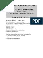 Listado de Títulos Biblioteca Wanceulen 2013