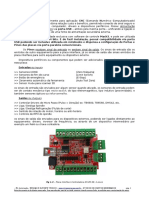 Datasheet Manual Placa Interface Controladora USB Mach3 CNC NVUM-SK 4 Eixos Router CNC