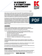 Common Kidney Disease Symptoms and Management Fact Sheet
