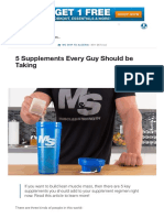 5 Supplements Every Guy Should Be Taking