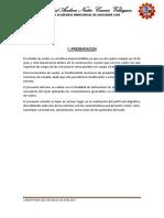 Informe de Calicata Muetra Inalterada