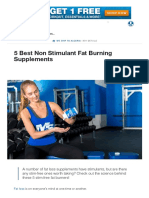 5 Best Non Stimulant Fat Burning Supplements