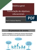 Formulação de Objetivos Educacionais