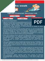 Pick of the Week - Ujjivan Financial Services