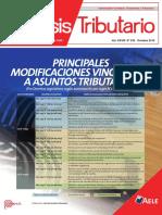 PRINCIPALES MODIFICACIONES EN ASPECTOS FISCALES