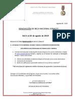 Requisitos de RENOVACION 2019-1