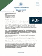 Banks letter to FBI Director