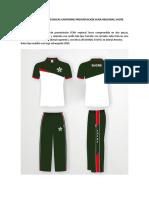 Especificaciones Tecnicas Uniforme Presentacion y Competencia