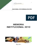Memoria Instucional 2010