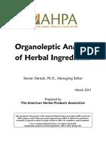 Organoleptic Analysis Guidance Final