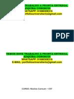 Tecnologos 1 e 2 Semestre - Temos a Pronta Entrega Adquira Ja Whatsapp 91988309316 E-mail Portfoliouniversitario@Gmail