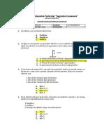 Examen de Fisica Primer Periodo
