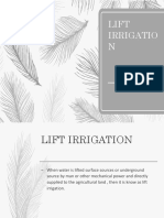 lift irrigation