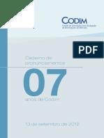 85 CODIM Book 7 Anos 2012