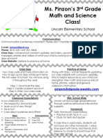 parent teacher conference brochure