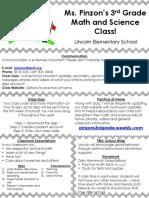 parent teacher conference brochure