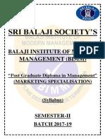 01 BIMM Marketing Sem-II 2017-19