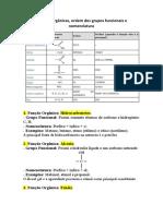 Resumo Funções Orgânicas - Química
