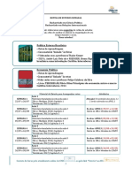 Rotina de Estudos Semanal - Comum Peb e Econ