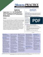 EBM Pulmonary Embolism