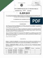 Decreto 1012 Del 06 de Junio de 2019