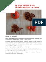 Lecture 37 Como Secar Tomates