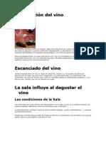 Decantación del vino