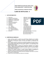Silabo Histologia II 4to Ciclo