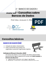 Banco de Dados - Conceitos sobre Banco de Dados