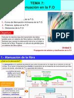 Atenuacion de La fibra óptica