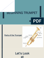 beginning trumpet pp - lesson 1