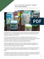31-07-2019 Llama Salud Sonora a no consumir productos milagro para adelgazar o tratar enfermedades - Proyecto puente