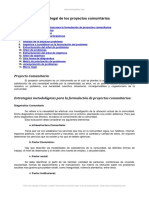 Marco Legal Proyectos Comunitarios
