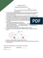 Evaluación de Física 5to TEMA 1