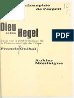 Dieu selon Hegel - F. Guibal