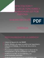 CAPACITACION FUNCIONES Y RESPONSABILIDADES SST