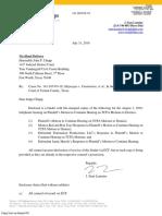 Letter to Judge Chupp - Binder 8.1.19 Hearing